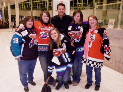 Mark with the Mudbug groupies