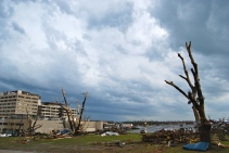 Tornado damage around Joplin's St. Johns Regional Medical Center