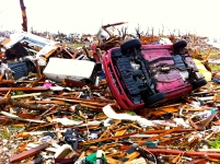 Debris from tornado that struck Joplin, MO