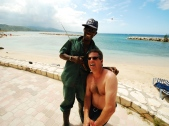 My friend Darrel with the Jamaican