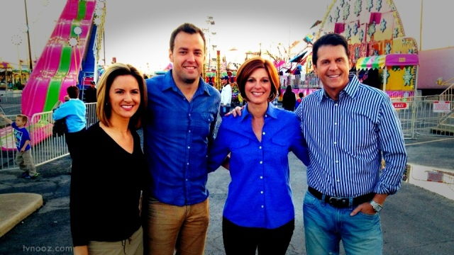 Kristin, John, Jennifer and Mark at the carnival