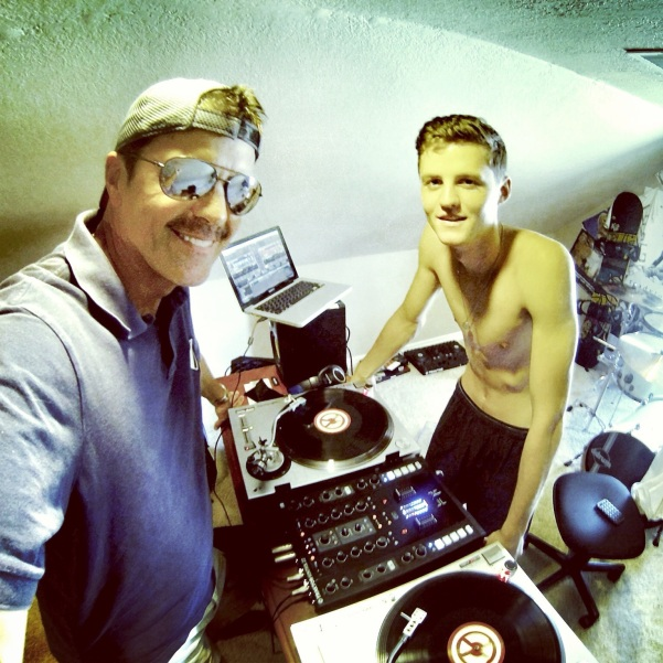 Jammin' with my DJ son Jacob!