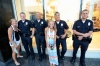 Michelle and Mandi with some real cops in Hollywood