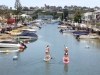 Paddle boarding on Balboa Island
