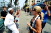 Rapper Salty Salt peddling his music at Venice Beach